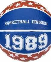 Groothandel speelgoed basketbal rood wit blauw 23 cm