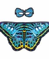 Groothandel speelgoed blauwe aurelia vlinder verkleedset