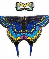 Groothandel speelgoed blauwe zwaluwstaart vlinder verkleedset