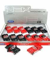 Groothandel speelgoed chevrolet corvette zwart autootje dichte cabrio 12 cm