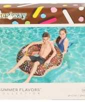 Groothandel speelgoed chocolade opblaas donut 107 cm