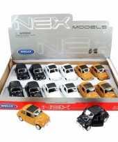 Groothandel speelgoed fiat 500 classic zwart welly autootje 10 5 cm