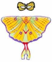 Groothandel speelgoed gele komeetstaart vlinder verkleedset