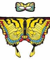 Groothandel speelgoed gele zwaluwstaart vlinder verkleedset