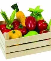 Groothandel speelgoed groente en fruitkist