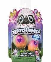 Groothandel speelgoed hatchimals colleggtibles nest met 2 eieren geel roze seizoen 3