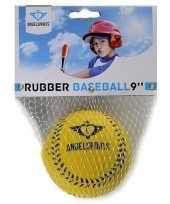 Groothandel speelgoed honkbal geel 7 cm
