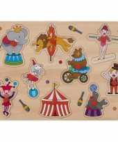 Groothandel speelgoed houten noppenpuzzel circus thema 30 x 22 cm