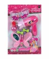 Groothandel speelgoed kapper kapsalon set donkerroze voor meisjes