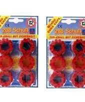 Groothandel speelgoed klappertjespistool kogels 12 schots 10158153