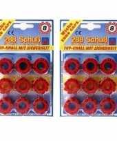 Groothandel speelgoed klappertjespistool kogels 8 schots 10158291