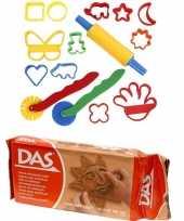 Groothandel speelgoed klei combi pakket van 1 kilo terracotta klei met 15 delige kleivormen set
