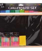 Groothandel speelgoed krijtbord set 29 cm met krijt en bordenwisser