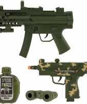 Groothandel speelgoed leger pistool wapen set 4 delig