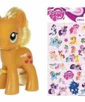 Groothandel speelgoed my little pony plastic figuur applejack met stickers stickervel