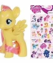Groothandel speelgoed my little pony plastic figuur fluttershy met stickers stickervel