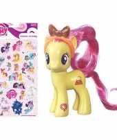 Groothandel speelgoed my little pony plastic figuur pursey pink met stickers stickervel