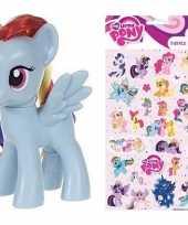 Groothandel speelgoed my little pony plastic figuur rainbow dash met stickers stickervel