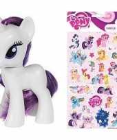 Groothandel speelgoed my little pony plastic figuur rarity met stickers stickervel