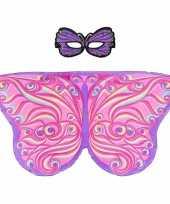 Groothandel speelgoed paars roze vlinder verkleedset