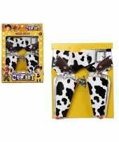 Groothandel speelgoed pistolen en holsters met koeienprint