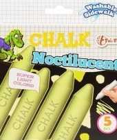 Groothandel speelgoed schoolbordkrijt glow in the dark 5 stuks