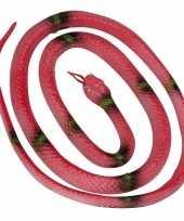 Groothandel speelgoed slang rood 140 cm