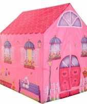 Groothandel speelgoed speeltent roze prinsessen huis 102 cm