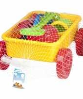 Groothandel speelgoed zand trekkar geel 7 delig