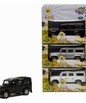 Groothandel speelgoed zilveren landrover 20 cm