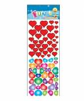 Groothandel stickervel gekleurde hartjes speelgoed