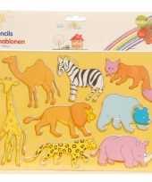 Groothandel teken sjablonen dieren 2 stuks speelgoed