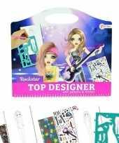 Groothandel tekenset kleding ontwerpen rockstar creatief speelgoed