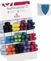 Groothandel textielstift blauw met dikke punt speelgoed