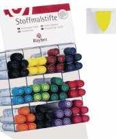 Groothandel textielstift geel met dikke punt speelgoed