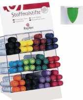 Groothandel textielstift groen met dikke punt speelgoed
