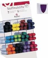 Groothandel textielstift paars met dikke punt speelgoed
