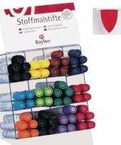 Groothandel textielstift rood met dikke punt speelgoed