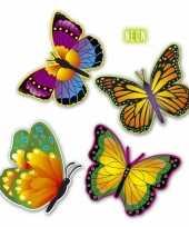 Groothandel vlinders versiering 4 stuks speelgoed