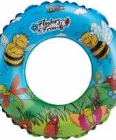 Groothandel waterspeelgoed blauwe bloemen zwemband zwemring 45 cm voor jongens meisjes kinderen