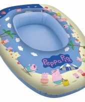 Groothandel waterspeelgoed peppa big pig opblaasboot 80 x 54 cm voor jongens meisjes kinderen 10197337