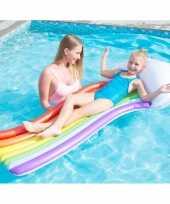 Groothandel waterspeelgoed regenbogen luchtbed 157 x 77 cm voor jongens meisjes kinderen
