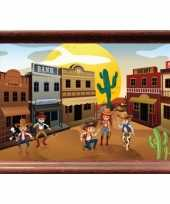 Groothandel western dorpje poster speelgoed