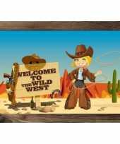 Groothandel wilde westen thema poster speelgoed