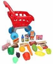 Groothandel winkelwagentje met boodschappen voor kinderen speelgoed