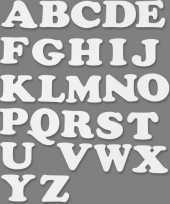 Groothandel witte alfabetletters van karton 3 sets speelgoed