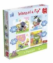 Groothandel woezel en pip puzzelset 4 in 1 speelgoed
