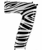 Groothandel zebra ballon cijfer 7 speelgoed