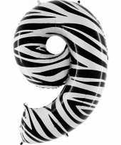Groothandel zebra ballon cijfer 9 speelgoed